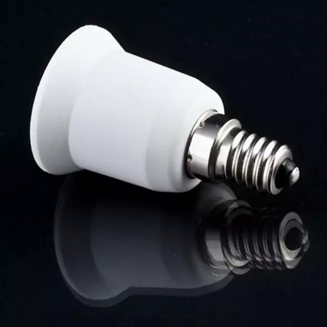 Light Bulb Lamp Socket E14 to E27 Adapter Converter C1/xj