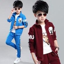 Spring Autumn Clothes Children's Clothing Boys Sports Ssts Kids Clothes Children Coat Tracksuit Suit Zipper Jacket+Pants B346