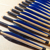 Chinese traditional Turkish wooden arrows hunting turkey feathers shooting outdoor sports