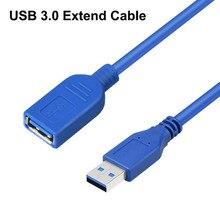 Высокоскоростной USB 3,0 Удлинительный кабель USB кабель для синхронизации данных разъем для ноутбука ПК Принтер жесткий диск мышь