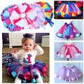2016 Spring Autumn Lace Mesh Long Baby Tutu Skirt More Color Princess Girls Skirts 2~7Age Children Clothing Tutu Pettiskirt