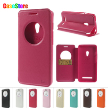 For Zenfone 5 Case Original Roar Korea Noble Cricle View Window Flip Leather Cover for Asus Zenfone 5 With Card Slot+Package