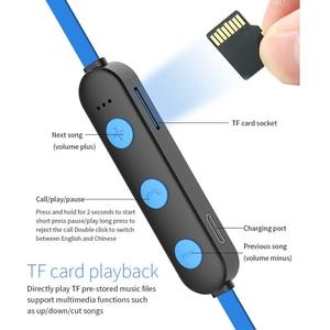 Image 5 - Yodeli XT 22 bluetooth kablosuz kulaklıklar 5.0 destek TF kart spor kulaklık Handsfree Stereo kulaklık cep telefonu için Mic ile