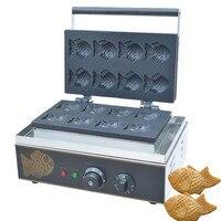 Jamielin Non stick Ice Cream Taiyaki Machine Small Fish Shape Cake Making Machine Cone Maker Street Food Equipment
