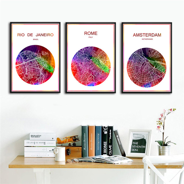 online shop berlin germany famous world city map print poster print ...