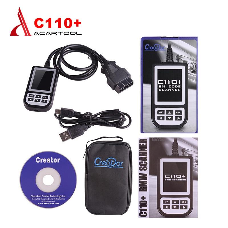 Цена за Лучшее качество Для BMW Создатель C110 + Code Reader Сканер для BMW C110 + OBD2 Код Сканер Для Диагностического Сканера бесплатная доставка