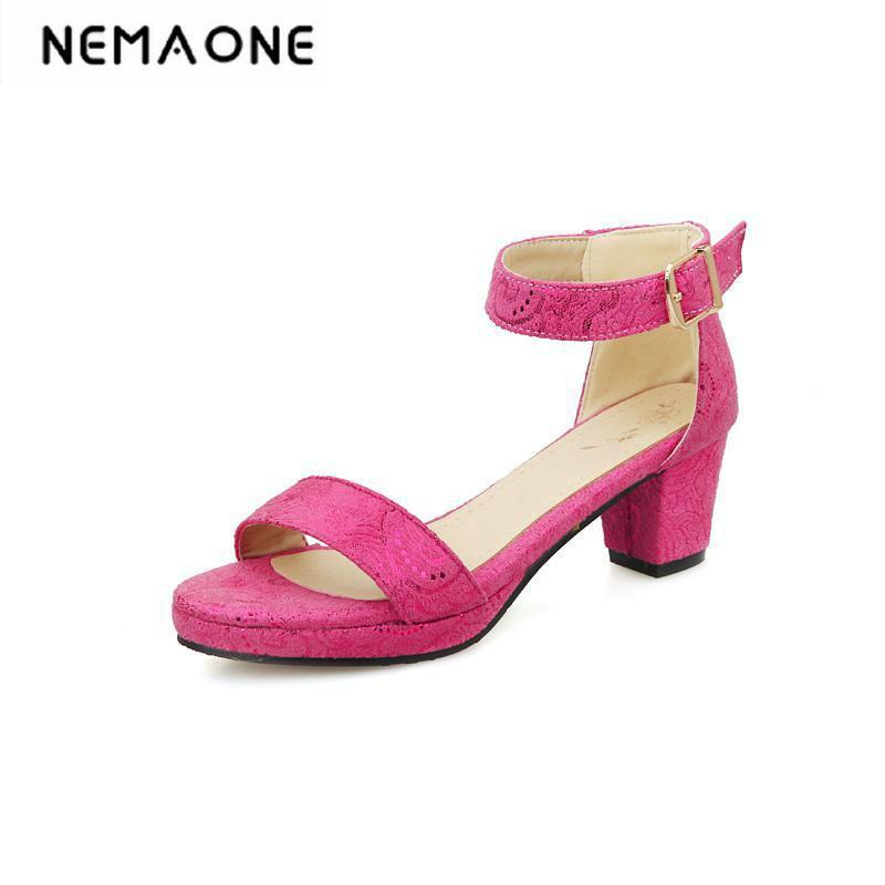 Summer Women Sandals Open Toe Womens Sandles Thick Heel Women Shoes Korean Style Gladiator Shoes Platform Shoe