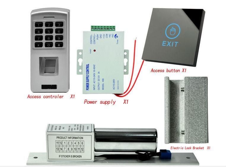 YobangSecurity Fingerprint Password Door Entry Access Control System Kits+door lock+Power supply  Access Control Door Opener biometric fingerprint access controller tcp ip fingerprint door access control reader