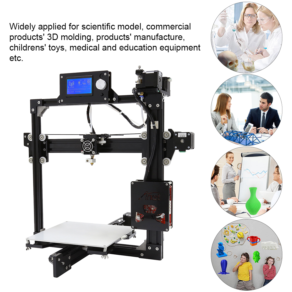 2018 Cheap 3D Printers Anet A2 DIY 3D Printer Kit with Auto Leveling Sensor Plus Size 220 270 220MM Impresora 3D Drucker in 3D Printers from Computer Office