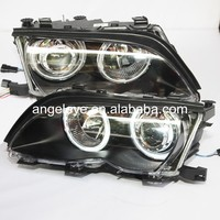 For BMW E46 318i 323i 320i 325i 330i 4 doors CCFL Angel Eyes Head lamp Headlights Front light 2002 2005 year LF