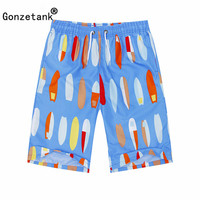 GONZETANK 2017 Summer Men High Waisted Beach For Bermuda Sweat Casual Jogger Cargo Colored Boat Movement