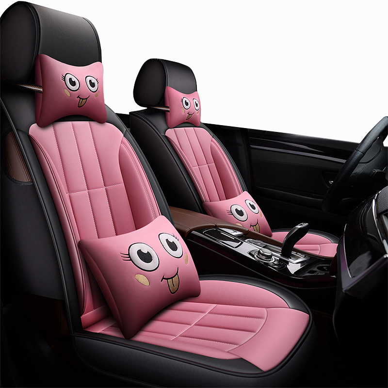 2017 Hyundai Veloster Interior: New Cartoon Leather Universal Car Seat Cover For Hyundai
