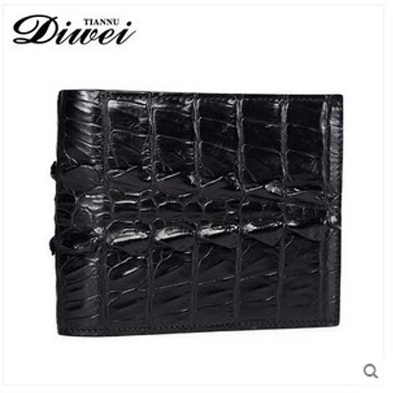 2018 diwei new hot free shipping male crocodile skin purse short cross men wallet fashion youth authentic slim men wallet