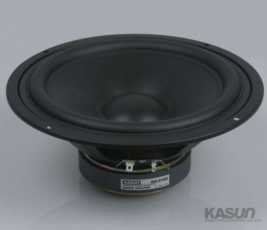 1PCS KASUN QA-8100 8inch Woofer Speaker Driver Unit Paper Cone 8ohm/140W Dia 218mm Fs 45Hz