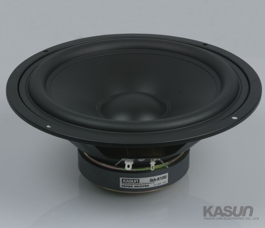 2PCS KASUN QA-8100 8inch Woofer Speaker Driver Unit Paper Cone 8ohm/140W Dia 218mm Fs 45Hz 2pcs kasun qa 8100 8inch woofer speaker driver unit paper cone 8ohm 140w dia 218mm fs 45hz