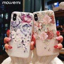 11 Pro роскошный 3D силиконовый чехол для iPhone 6 7 6S 8 Plus 5S SE X XS MAX XR противоударный цветочный чехол для телефона для iPhone 6 7 Чехол для девочки