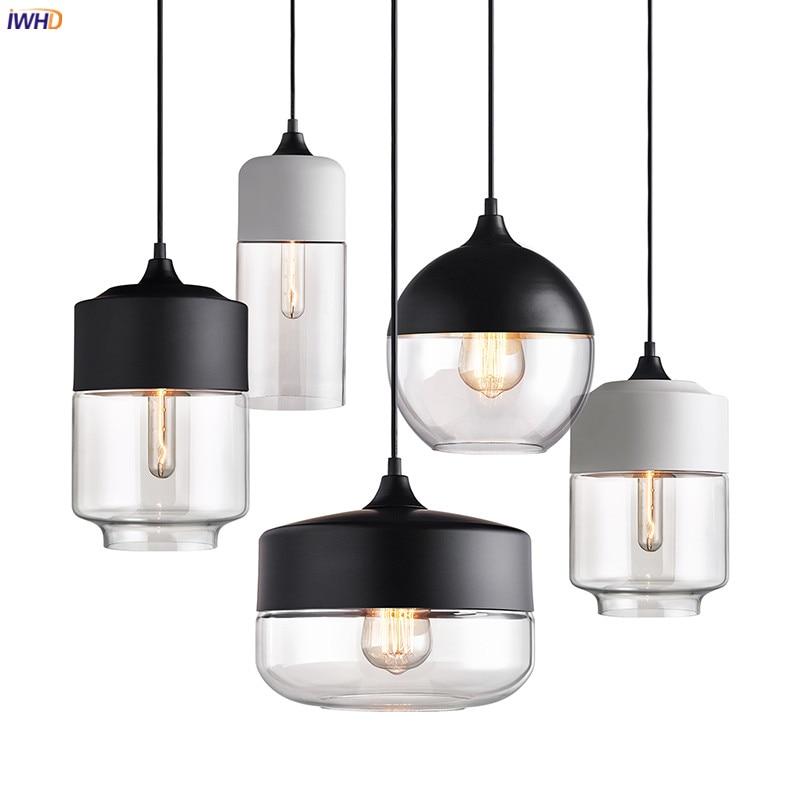 IWHD Loft Industrial Decor Edison Pendant Lights Fixtures Dinning Room Bar Cafe Hanglamp Vintage Lamp Hanging Light Luminaria