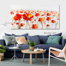 Hand Painted Knife Tree Oil Painting On Canvas Large Palette 3D For Living Room decor Abstract Wall Art flower Pictures