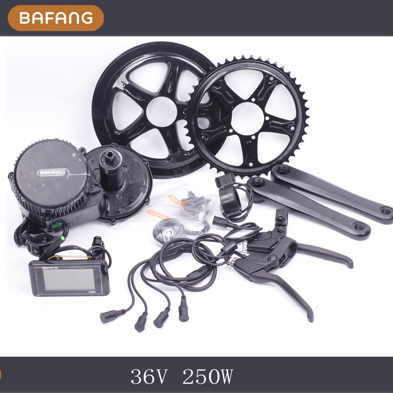 36v 250w Bafang/8un Motor C961 LCD BBS01 Latest Controller Crank Motor Eletric Bicycles Trike Ebike Kits Fedex Shipping free shipping 2017 china cheapest ebike crank motor