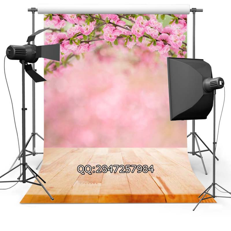 Thin Vinyl photography background Customize spring flowers  Backdrops Digital Printing Background for photo Studio F-2347