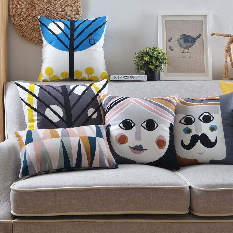 Free Shipping Plush Scandinavian Style Seat Cushion Modern Minimalist Cushions For Sofas Stylish Geometric Throw Pillows In From Home Garden On