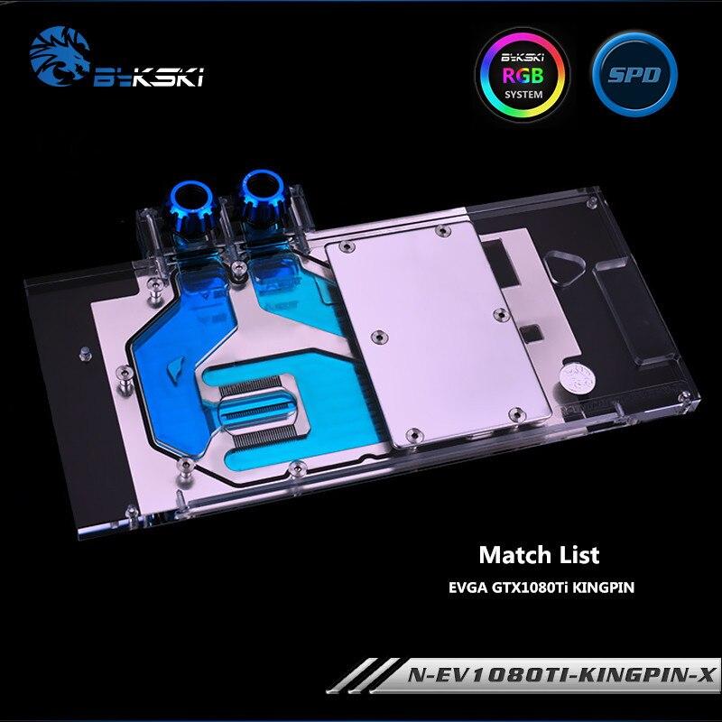 Bykski Full Coverage GPU Water Block For EVGA GTX1080Ti KINGPIN Graphics Card N-EV1080TI-KINGPIN-X bykski n ev1080ti kingpin x gpu water cooling block for evga gtx1080ti kingpin
