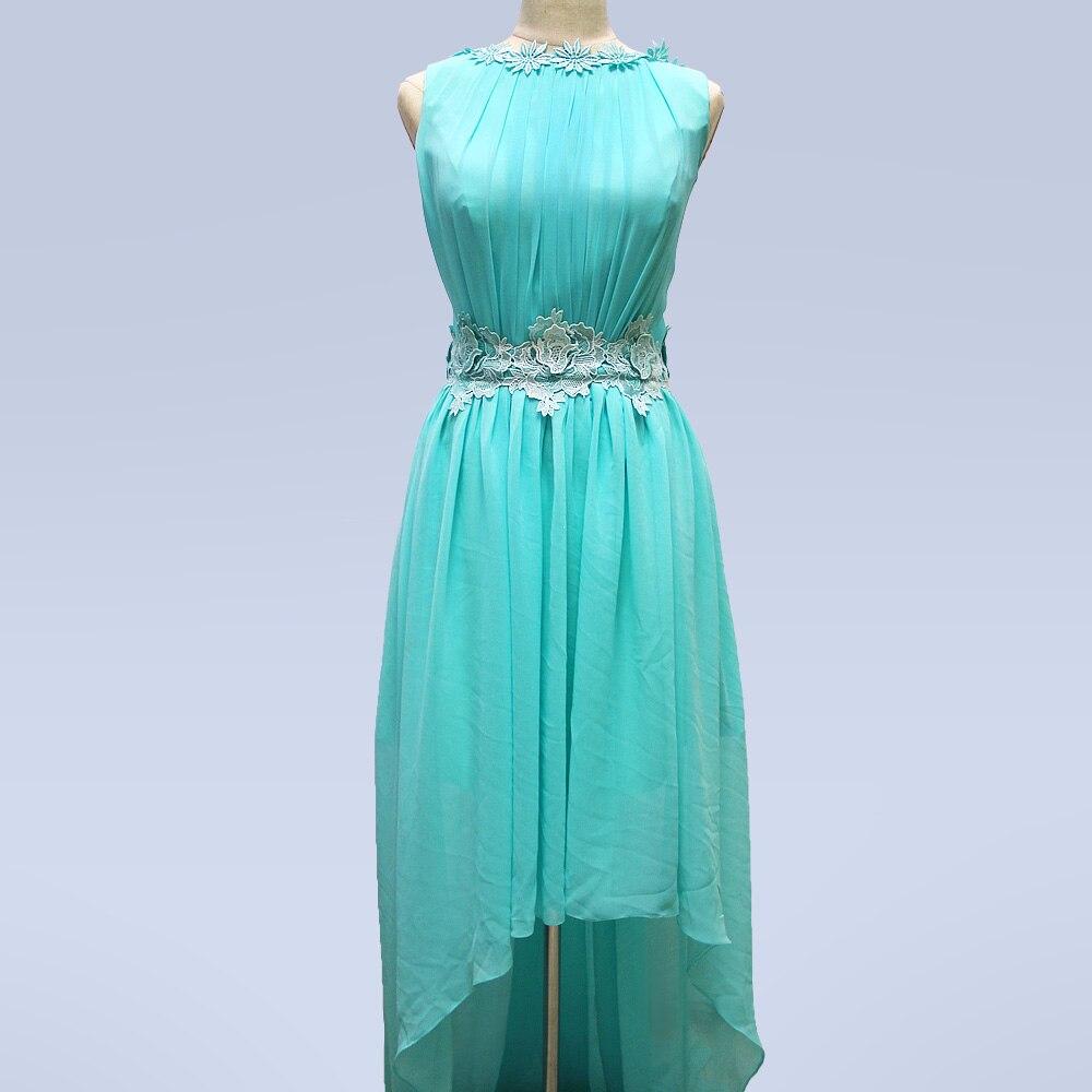 Elegant Chiffon Hi Low Country Style Bridesmaid Dresses O Neck ...
