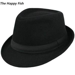 b12237f6945 UGLY FISH Wool Fedora hats for men felt hat head size