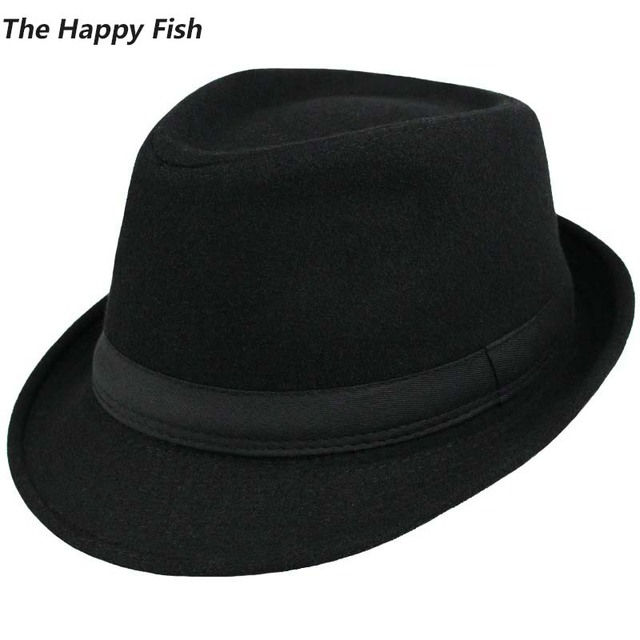 Sombrero Fedora de lana estructurado Unisex Original sombreros Fedora para  hombres sombrero de fieltro tamaño de d79f8d7b52f