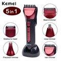 Kemei 5 en 1 Impermeable Cortapelos Nariz y Oído Trimmer Profesional Barba Razor máquina de Afeitar Eléctrica Máquina de Afeitar Herramienta De Corte Peine