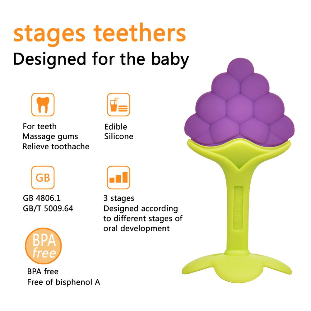 Baby Teether Fruit And Vegetable Shape Teether Silicone 2019 Brand New Baby Dental Care Toothbrush Training Baby Care Silicone