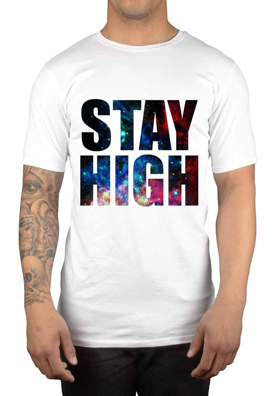Stay High Galaxy T-Shirt Taylor Gang Swag Wiz Snoop Loud Gift Idea Weed Male Best Selling T Shirt 2018 Fashion