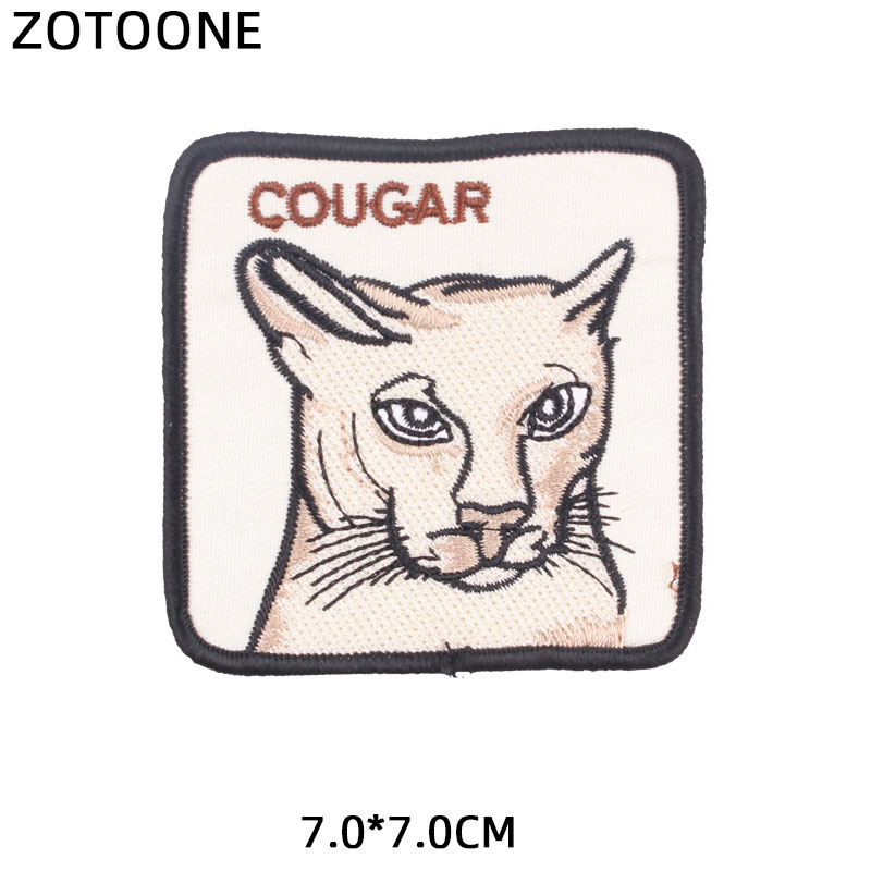 ZOTOONE Animal Lion Tiger Patches Diy Stickers Iron on Clothes Heat Transfer Applique Embroidered Applications Cloth Fabric G in Patches from Home Garden