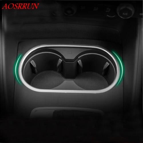 Car-Styling Wasserbecherhalter Verkleidung Zierleisten Chrom Edelstahl 3D Aufkleber NEU für Audi A3 Fließhecklimousine