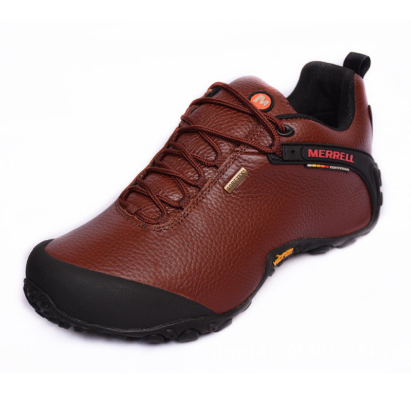 f67233657fd Merrell Original Pack Hike Outdoor Men Genuine Leather Hiking Shoes for  Male Brown Mountaineer Climbing Sneakers 39 44-in Hiking Shoes from Sports  ...