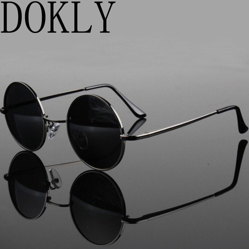 2017 модный показ Стиль очки настоящие поляризованные очки старинные солнцезащитных очков круглые очки uv400 черный объектив