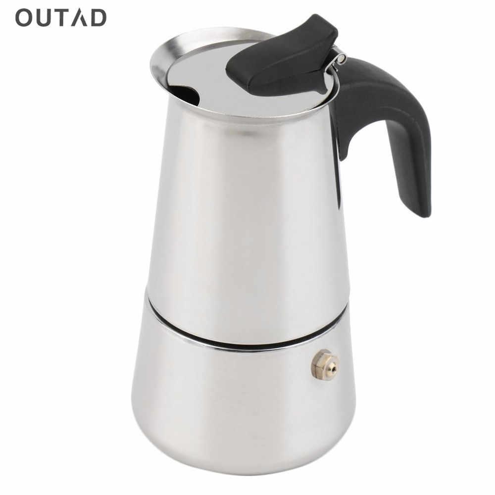 2/4/6 tazze di Alta qualità Moka di caffè bollitore per caffè/moka, espresso bollitori macchine per il caffè pentola di acciaio inox moka di caffè machi