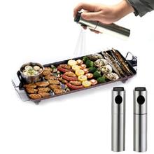 Edelstahl Olive Pumpe Sprühflasche Öl-sprayer Injektor Essig Topf Für Salat Pizza cozinha küche gadget