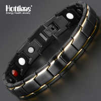 Hottime New Fashion Therapeutic Energy Healing Bracelet Stainless Steel Magnetic Therapy Bracelet 5 Colors