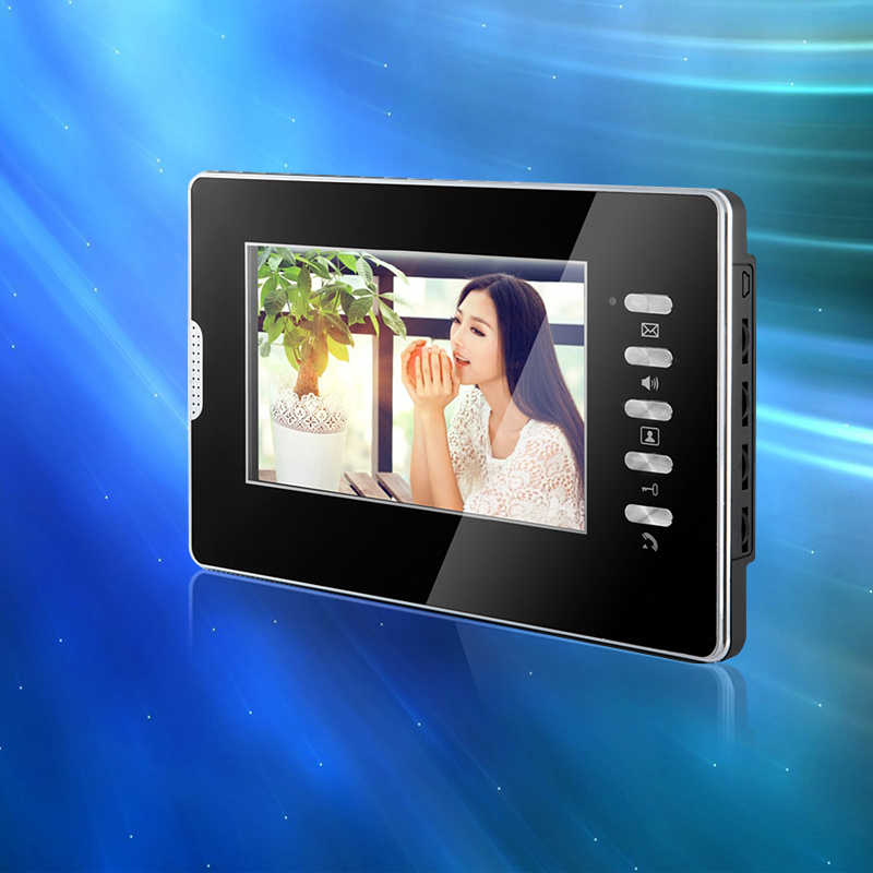 7 inch TFT Color Video Door Phone Intercom Indoor Machine Monitor Screen For DIY Intercom System Without IR Camera Free Shipping 7inch video door phone intercom system for 5apartment tft lcd screen 5 flat indoor monitor with night vision cmos outdoor camera