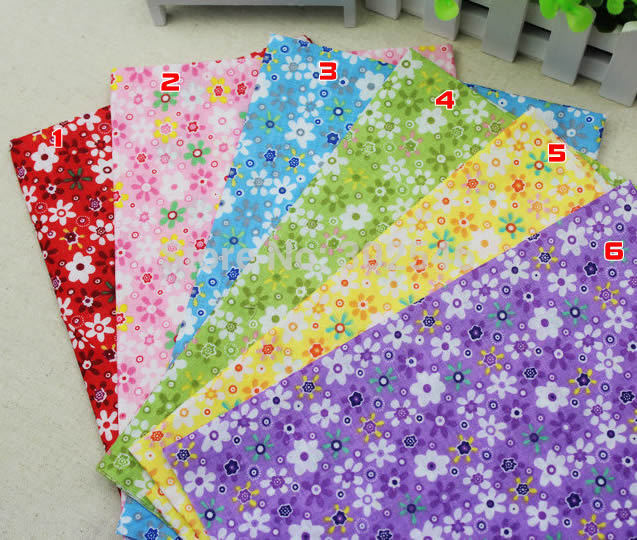 Cotton Fabric No Repeat Design Flower Series Patchwork Fabric Fat Quarter Bundle Sewing For Fabric 6pieces/lot 50cm*50cm A1-6-1