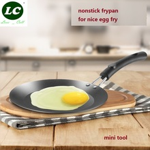 ФОТО nonstick frypan iron egg tool cooking pan mini size just for egg 12cm