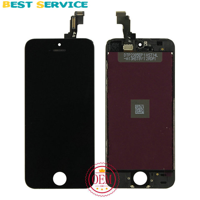 100% New For iPhone 5S LCD Display + Touch Screen Digitizer +Bezel Frame +LCD Foam + Camera Ring+ Sensor Ring+Tool Free Shipping
