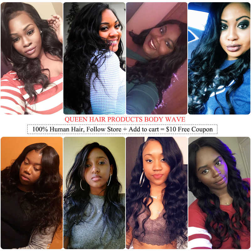 Queen Hair Products Brazilian Hair Weave Bundles With Closure Body Wave Hair Extension Virgin Human Hair Weaving Fast Shipping