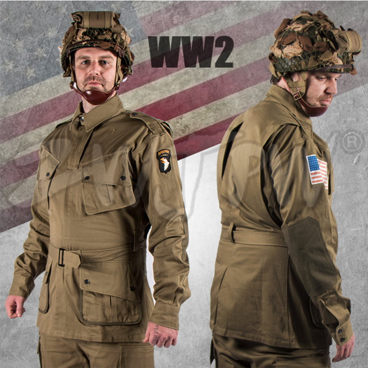 WW2 US Army Military 101 AIRBORNE PARATROOPER Suits Uniforms   US/501101 кабель для ибп apc ap8704r ww  ap8704r ww