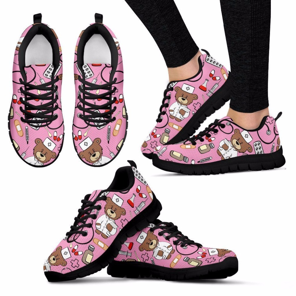 Merk Lichtgewicht Mesh Patroon Dames Sneakers Hycool Verpleegster qEUwvCvF
