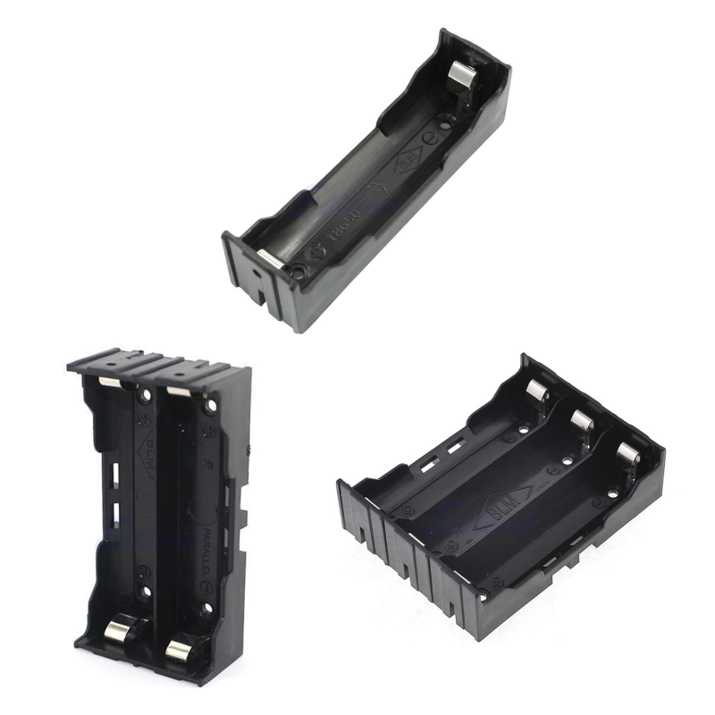 1pc /2pc / 3pc Plastic Battery Case Holder Storage Box For 18650 Rechargeable Battery 3.7V DIY