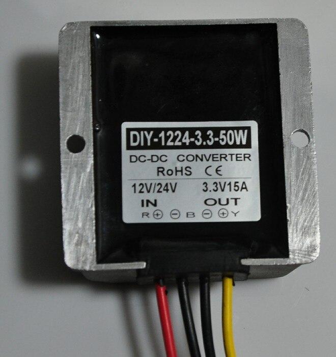 цена на Converter DC-DC Converter 12V24V(6V-40V)Step Down 3.3V 15A 50W Buck Module Car Power Supply Adapter Voltage Waterproof