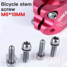 4PCS Bicycle Headset Stem Cap Screw Ultralight Stainless Seat Disc Bolt M6 * 18MM Mountain Bike Road Accessories
