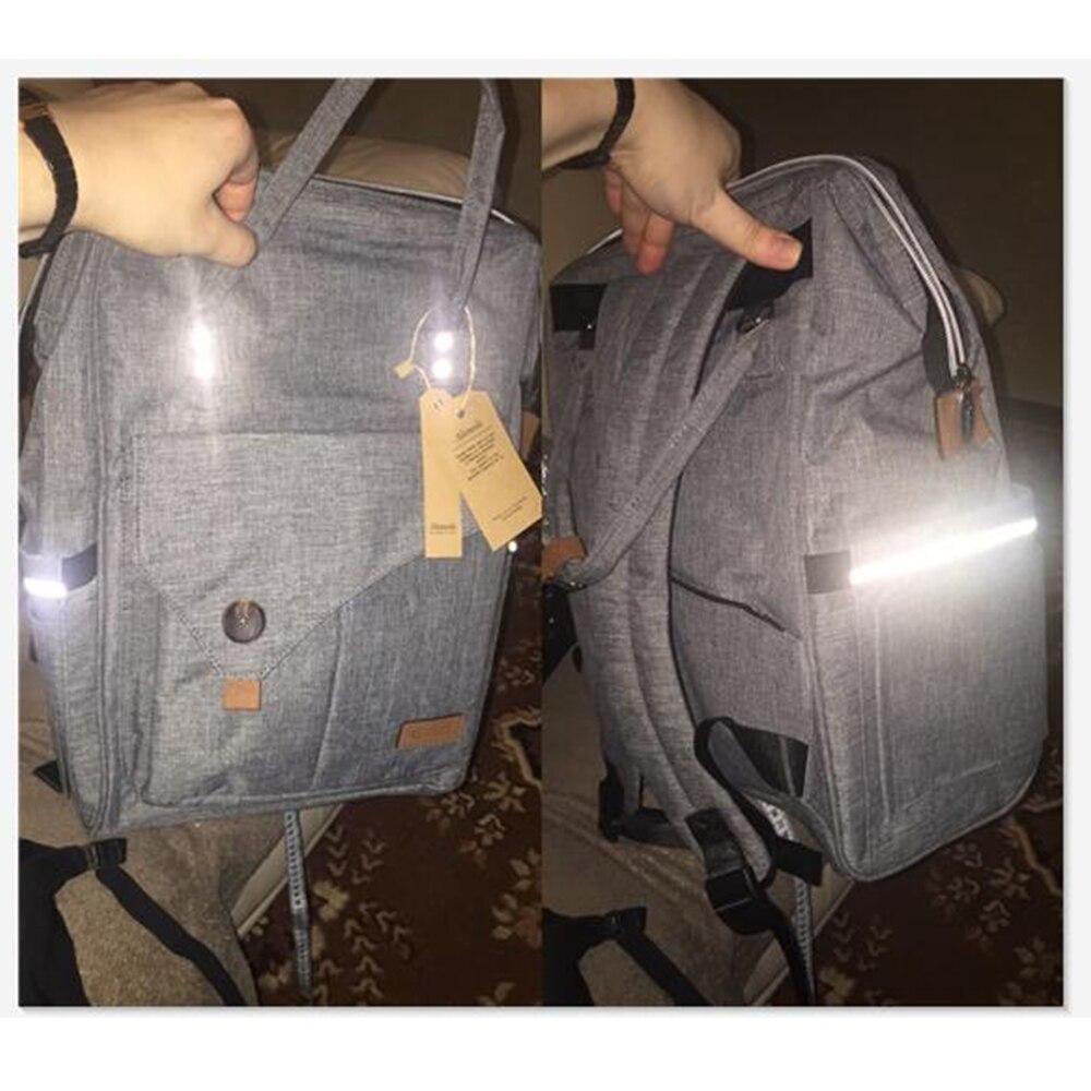 De bolso de Kit de Madre de moda multifunción viaje mochila de gran capacidad impermeable bebé pañal bolsas para mamá 2018 - 5